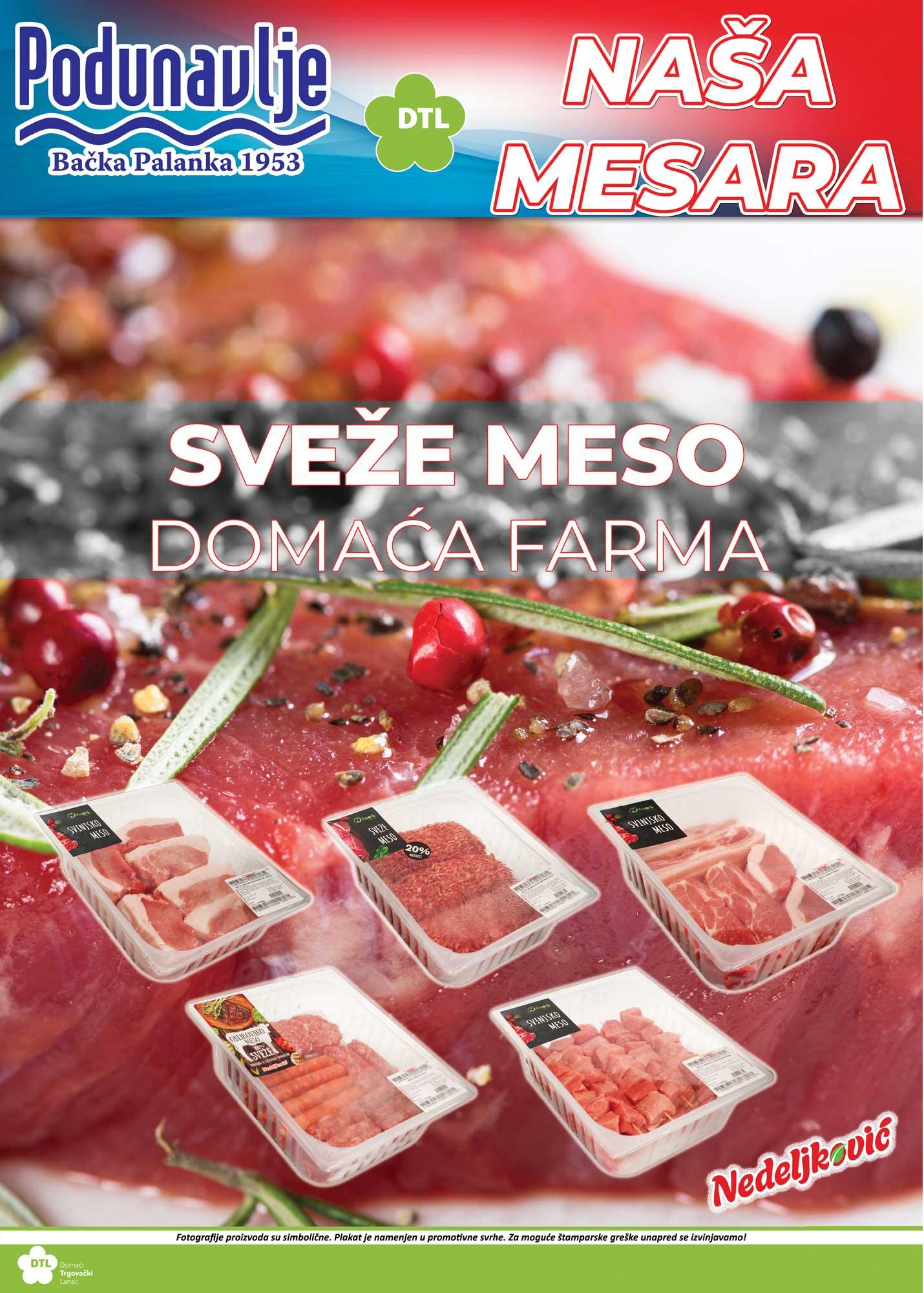 Sveže meso Nedeljković u objektima Podunavlja